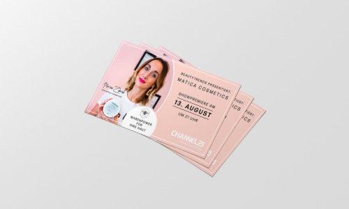 Flyerdesign für eine Kosmetikmarke