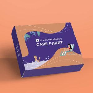 Verpackungsdesign für ein Care Paket