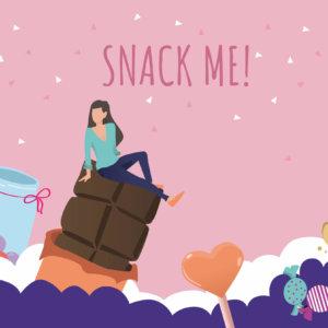 Vektorgrafik, die Süßigkeiten zeigt